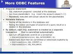 more odbc features