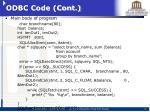 odbc code cont1