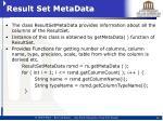 result set metadata