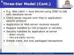 three tier model cont