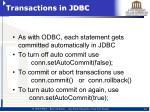 transactions in jdbc