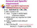 general and specific requirement