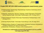 projekt rpo wp 2014 2020 zosta pozytywnie zaopiniowany przez