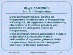 dlgs 150 2009 art 11 trasparenza