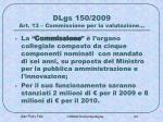 dlgs 150 2009 art 13 commissione per la valutazione