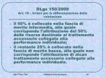 dlgs 150 2009 art 19 criteri per la differenziazione della valutazione1