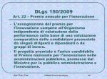 dlgs 150 2009 art 22 premio annuale per l innovazione1