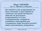 dlgs 150 2009 art 5 obiettivi e indicatori