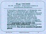 dlgs 150 2009 art 69 comma 7 disposizioni relative al procedimento disciplinare
