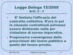legge delega 15 2009 artt 2 3