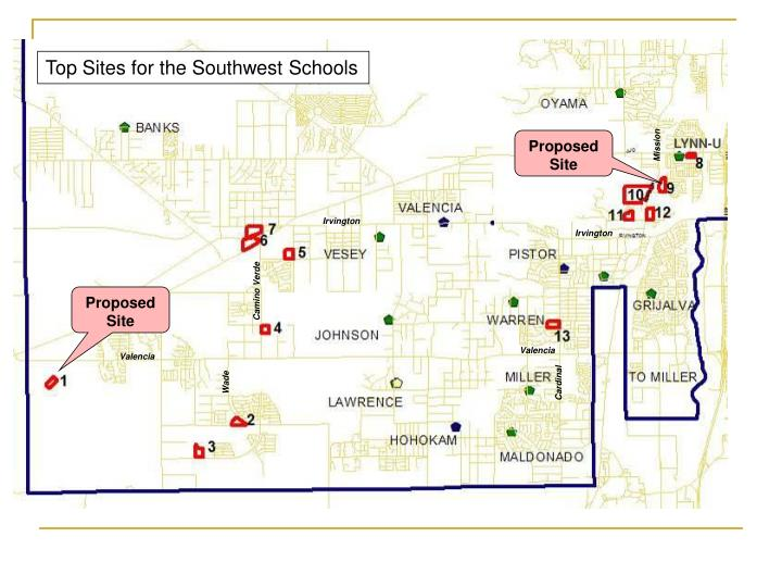 Top Sites for the Southwest Schools