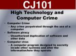 high technology and computer crime