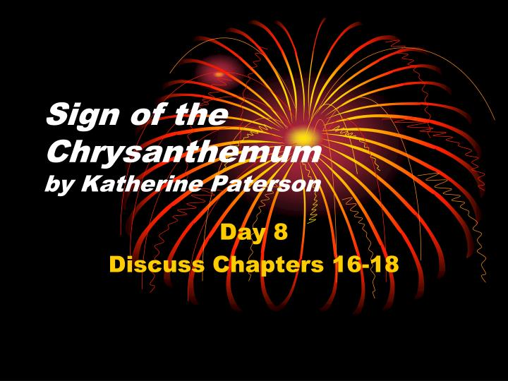 sign of the chrysanthemum by katherine paterson n.