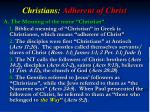 christians adherent of christ1