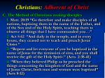 christians adherent of christ3