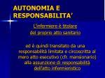 autonomia e responsabilita