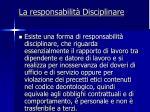 la responsabilit disciplinare