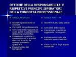 ottiche della responsabilita e rispettivi principi ispiratori della condotta professionale