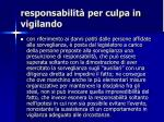 responsabilit per culpa in vigilando