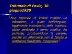 tribunale di pavia 30 giugno1930