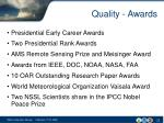 quality awards