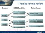themes for this review