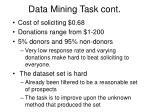 data mining task cont