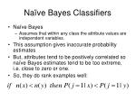 na ve bayes classifiers