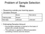 problem of sample selection bias
