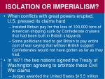 isolation or imperialism1
