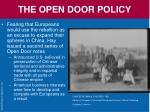 the open door policy2