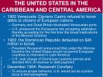 the united states in the caribbean and central america1