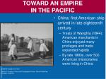 toward an empire in the pacific