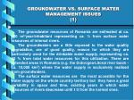 groundwater vs surface water management issues 1
