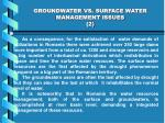 groundwater vs surface water management issues 2