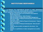 institutions responsible