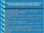 recent legislations and reforms for the implementing eu regulations 1