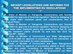 recent legislations and reforms for the implementing eu regulations 4