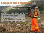 logistics and equipment