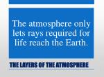the layers of the atmosphere12