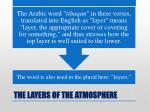 the layers of the atmosphere14
