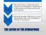 the layers of the atmosphere2