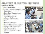 department of computer science engg lab facility