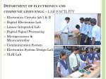 department of electronics and communication engg lab f acility