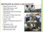 mechanical engg lab f acility