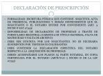 declaraci n de prescripci n