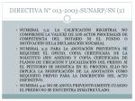 directiva n 013 2003 sunarp sn 2