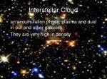 interstellar cloud