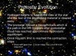 protostar evolution