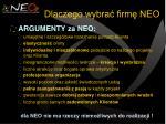 dlaczego wybra firm neo